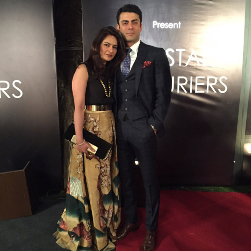 Sadaf Fawad Khan wears Shehla Chatoor's iconic Misaki ball skirt with husband Fawad Khan