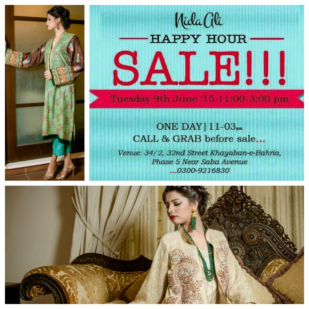 Nida Ali 'Happy Hour' Summer Sale 9th June!