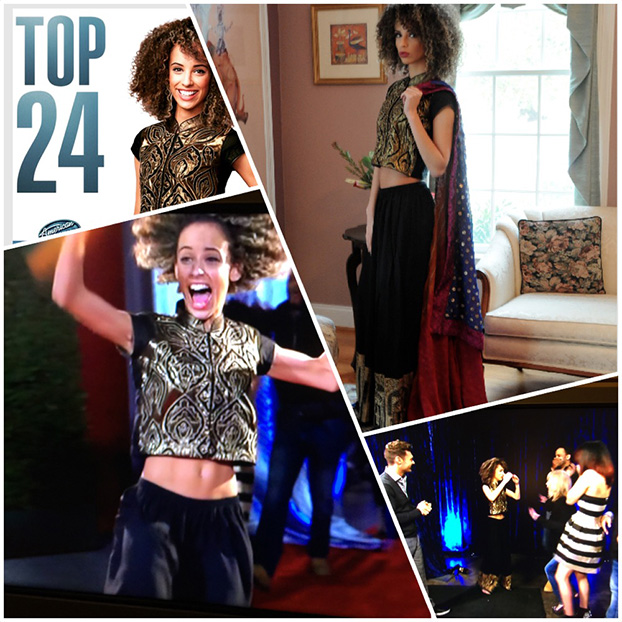 American Idol Top 24 Contestent Shaina Scott Wears Heritage Collection by Ashraf Valliani