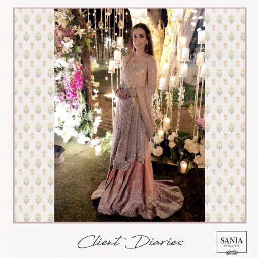 Anique spotted wearing a gorgeous Sania Maskatiya bridal at her Valima