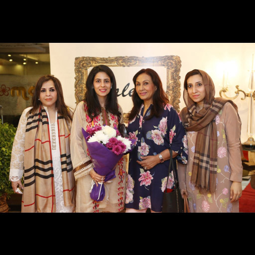 Saleha Qureshi at her store launch