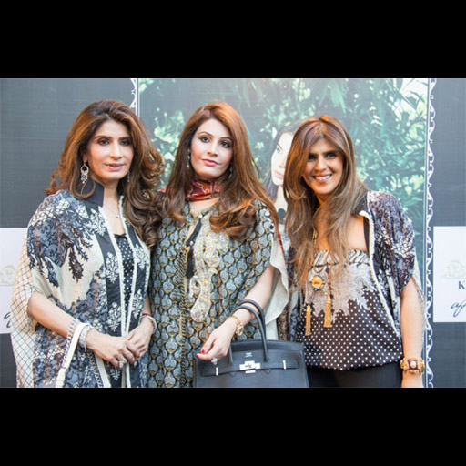 Erum Ahmed CEO of So Kamal, Aleena Raza, Ayesha.F.Hashwani all in Kamal Lawn by AFH