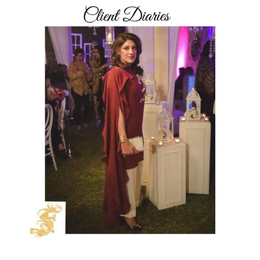 Amna Javaid looks stunning in a Maroon Pret wear shirt