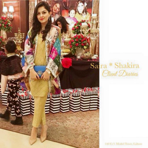 Elegant Rabia Waheed in a statement jacket