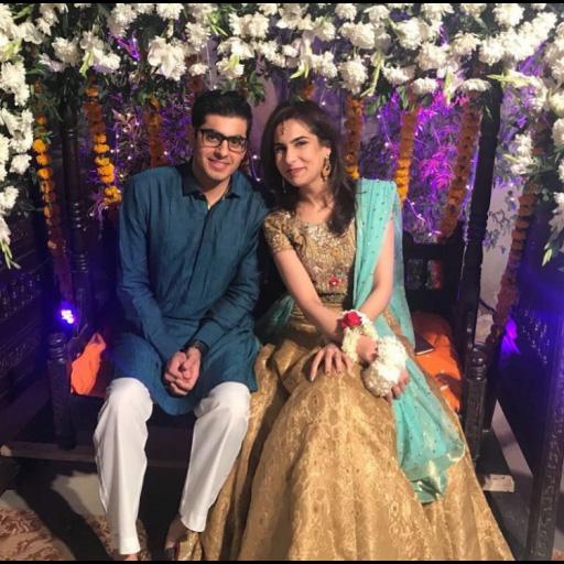 Kiran Asif and Waqaas Tariq are a vision together at their wedding festivities in bespoke Sania Maskatiya bridal wear