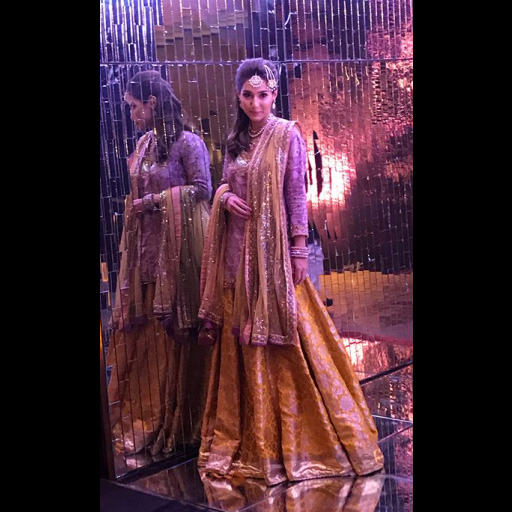 Rabia gives off traditional shaadi vibes in a yellow and gold look by Sania Maskatiya