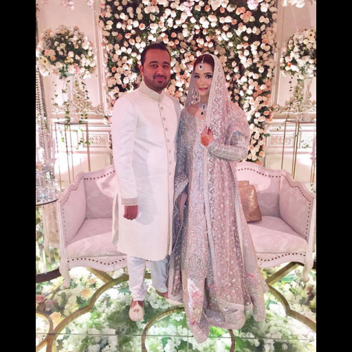 Aminah Tariq looks pretty in pastel hues on her big day by Sania Maskatiya