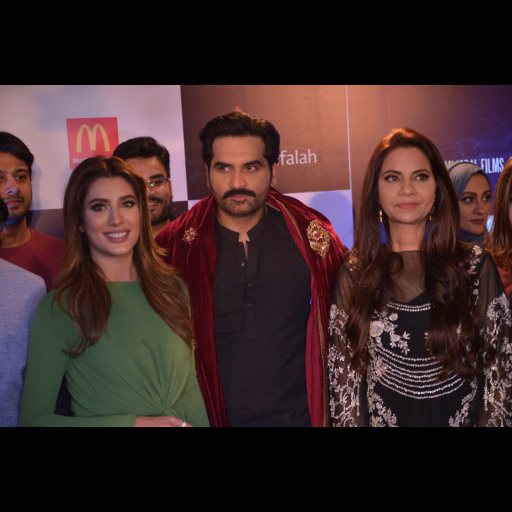 Mr and Mrs Humayun with Mehwish Hayat