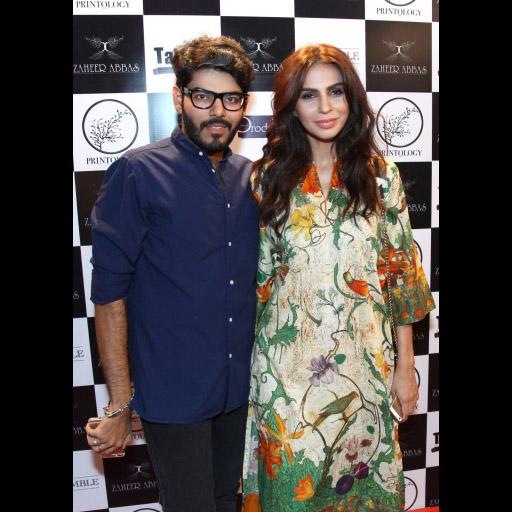 Tabish Khoja with Fauzia Amaan