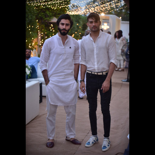 Hasnain Lehri and friend