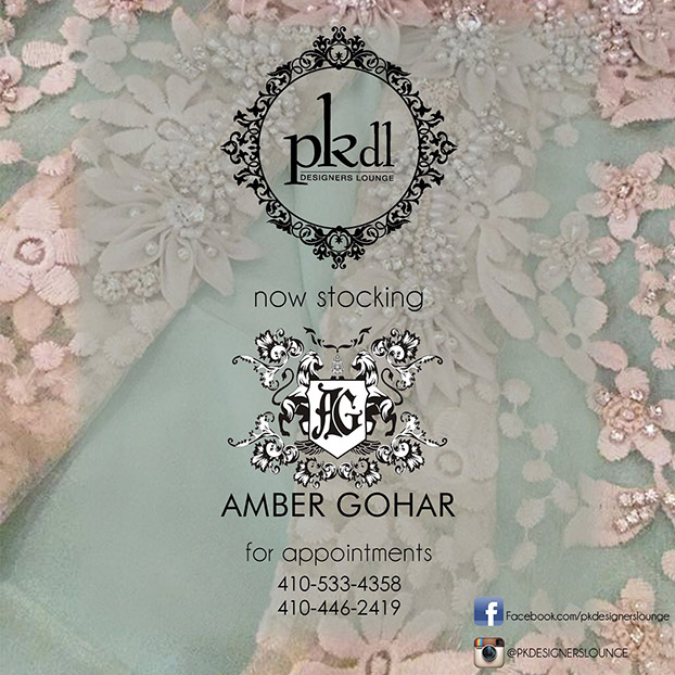 PKDL Designer's Lounge Now Stocking Amber Gohar!
