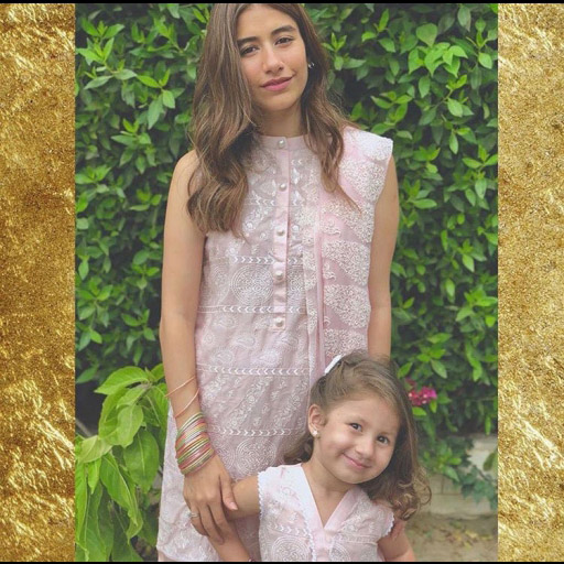 Syra Shahroz and Nooreh in Cross Stitch!
