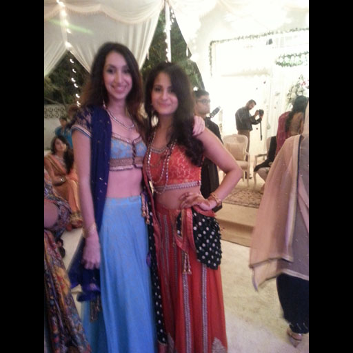 Spotted in a Yasmin Zaman ghaghra choli at a Mehndi