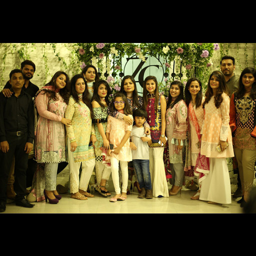 Team Zainab Chottani with family and friends