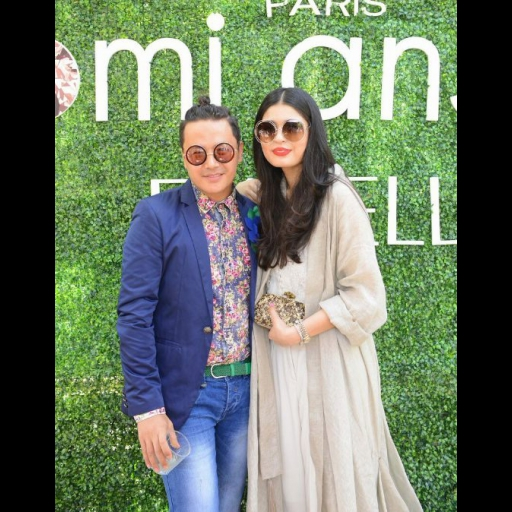 Mohsin Ali and Shazah Ayub in an Umaima Mustafa summer'15 cape