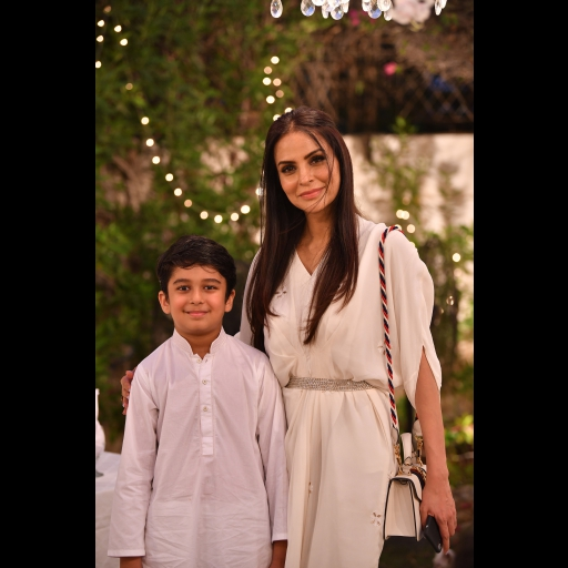 Fauzia Aman and her son