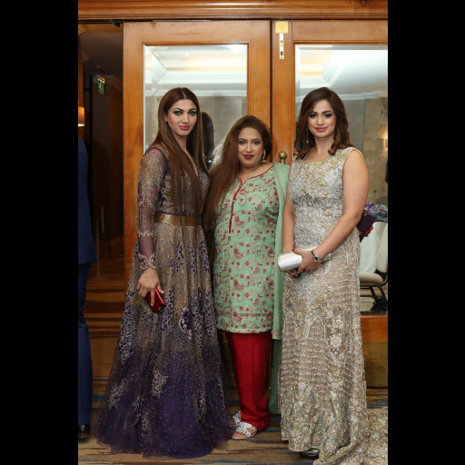 Sana Fakhar and Noor Bukhari with guest