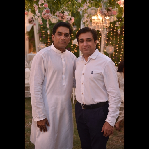 Mohsin Feroz with a Friend