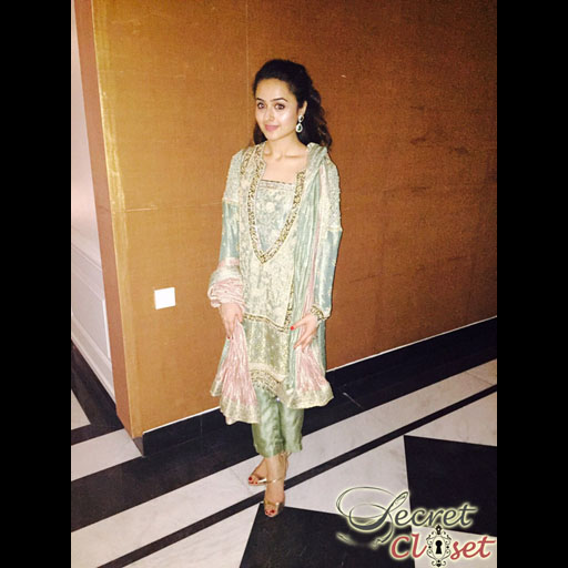 Alina Leghari in Shehla Chatoor handworked formal
