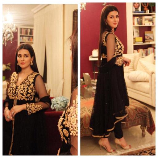 Natasha Khalid looking elegant in Mina Hasan