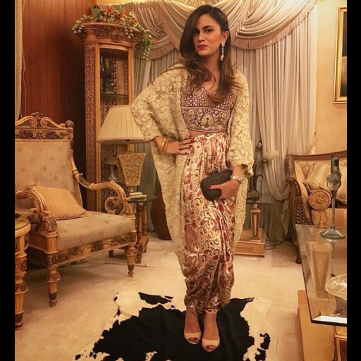 Natasia on point in a Shehla Chatoor formal from the latest 'All the Raj' collection