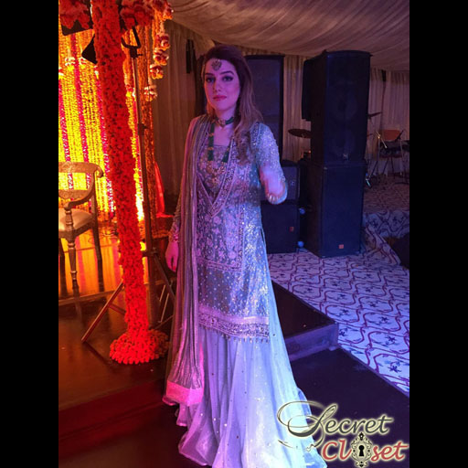 Amna Kasuri in Shehla Chatoor wedding wear