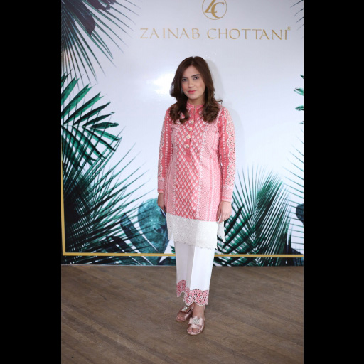 Alina Shahid wearing Zainab Chottani's ChikanKari Eid Festive Collection 2018