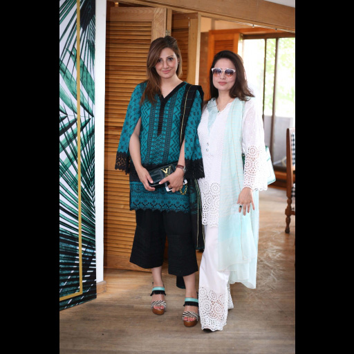 Amber Liaqat and Anny Shoaeb wearing Zainab Chottani's ChikanKari Eid Festive Collection 2018