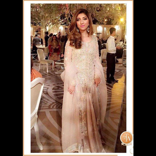 Maham Baig in a rose pink FTA formal.