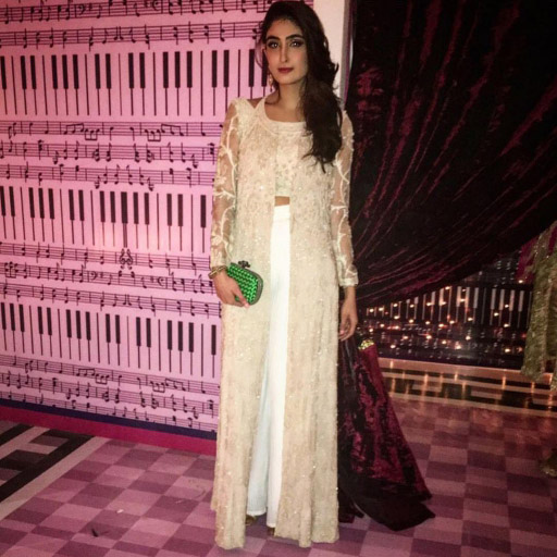 Anam Ayub in a graceful Umaima Mustafa formal
