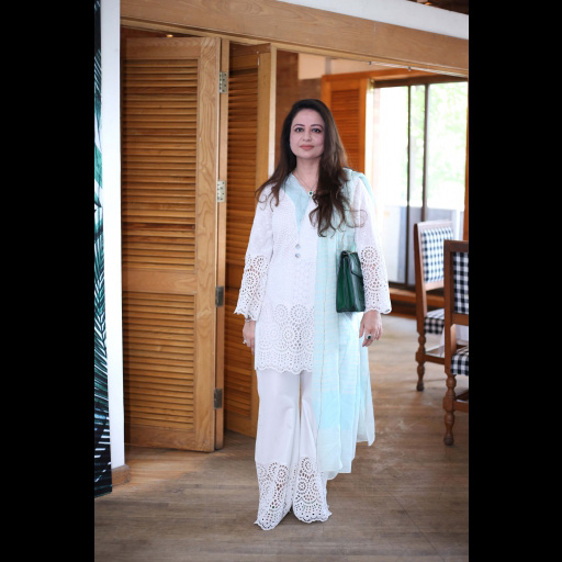 Anny Shoaeb wearing Zainab Chottani's ChikanKari Eid Festive Collection 2018