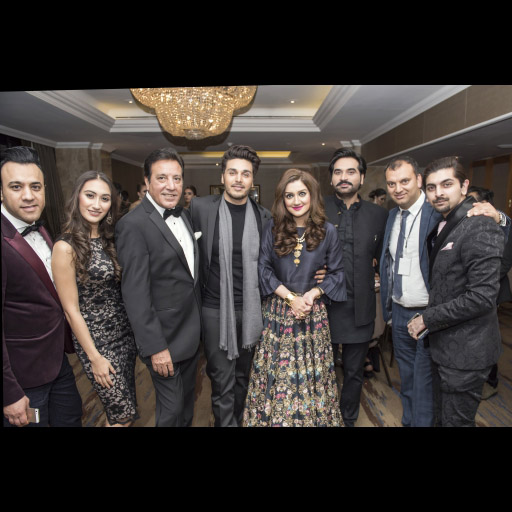 Usman, Neha, Javed Sheikh, Ahsan Khan, Ayesha Sana, Humayun Saeed with guest