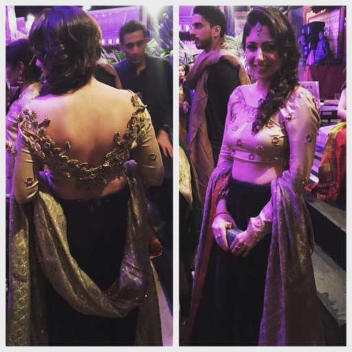 Saba Parvez Dada in a stunning Maheen Karim lehenga choli detailed with cutwork