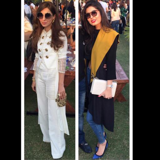 Sadiqa Awab and Shazah Ayub chic in Umaima Mustafa