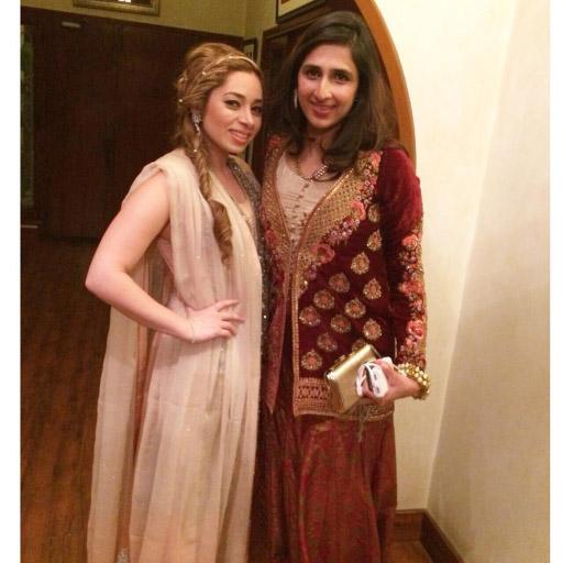 Samia Akram lovely in a regal Tena Durrani velvet jacket