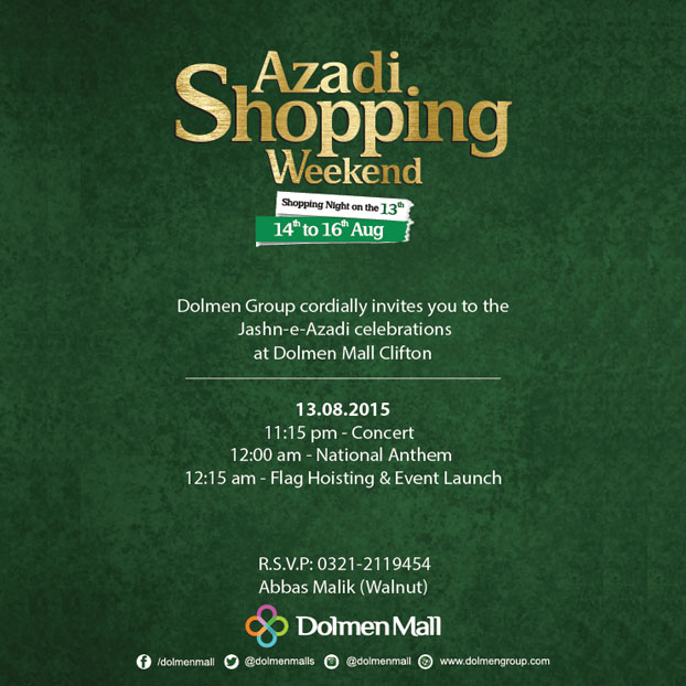 Azaadi Shopping Weekend at Dolmen Mall Karachi!