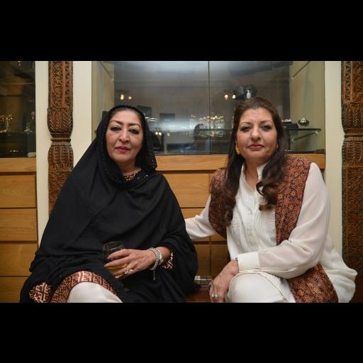 Kausar Pagara and Saba Talpur