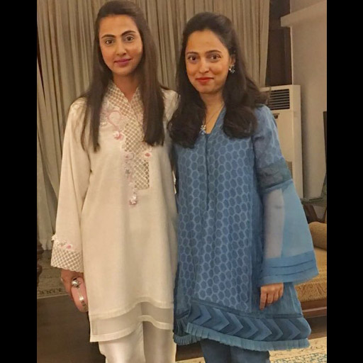 Mehreen Danish and Nida Azwer Spotted Looking Fab in Perfect Eid Outfits by Nida Azwer