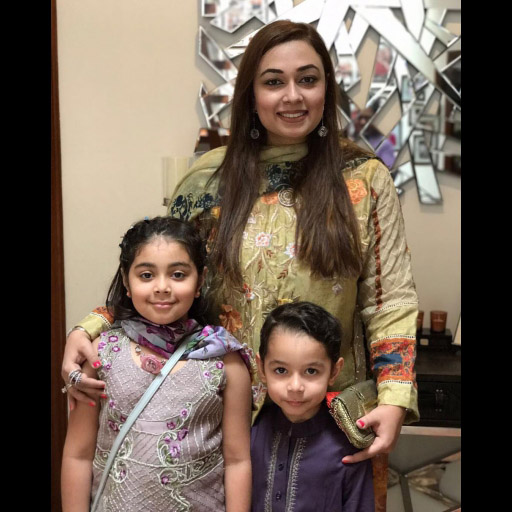 Saadia Asad from Noor with her Adorable Babies Scheherazade Noor And Ahmad on eid