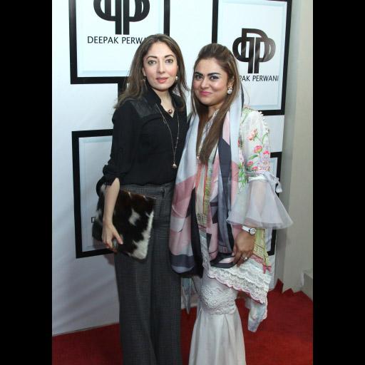 Sharmila Farooqui with Moneeza