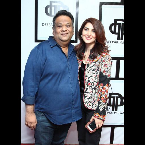 Umar Sayeed with Tehmina Khaled