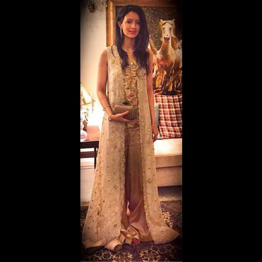 Fatima Ahmed is the epitome of grace in a MAHEENKARIM floor length cape and jumpsuit