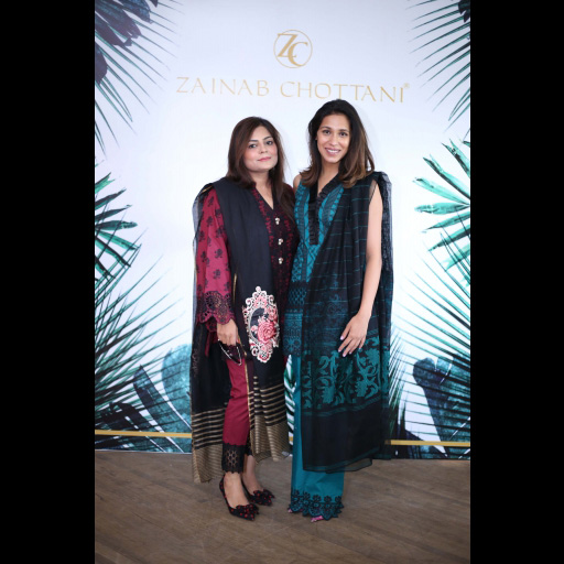 Zainab Chottani and Momina Sibtain wearing Zainab Chottani's ChikanKari Eid Festive Collection 2018