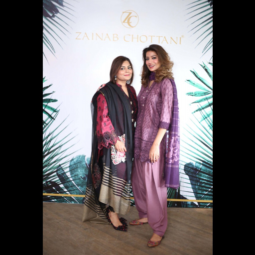 Zainab Chottani and Rabia Butt wearing Zainab Chottani's ChikanKari Eid Festive Collection 2018