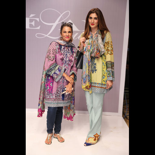 Frieha Altaf and Khadijah Shah wearing Elan Lawn