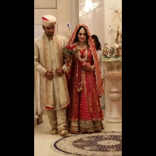 Nida and Zain both in YJ on their wedding