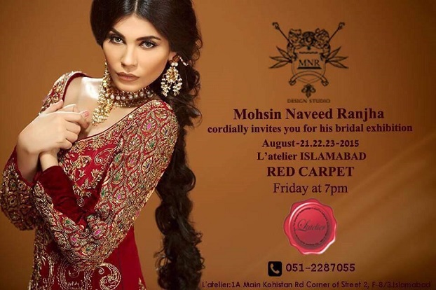 L'atelier Islamabad Exhibits Mohsin Naveed Ranjha's Bridal Collection from 20th-23rd August!