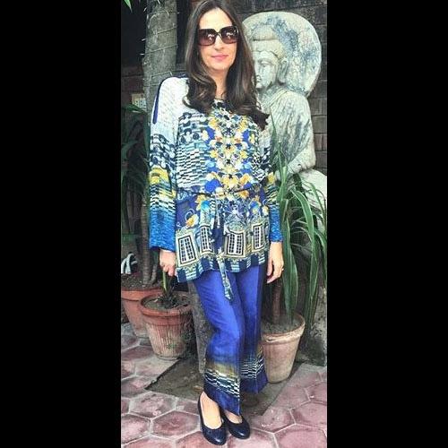 Aamina Taseer rocking Elan matching separates