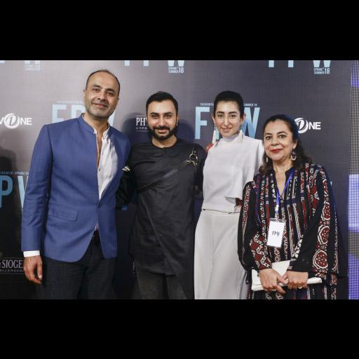 Deepak Perwani and Nubain Ali with Amna Aqeel and Feri Rawanian