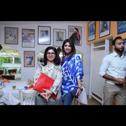 Aamna Haider Isani  and Sana Hafeez in Sana Safinaz